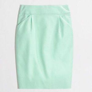 J. Crew Pencil Skirt - Mint